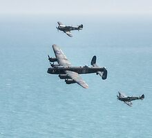 BBMF Flypast Beachy Head by Nigel Bangert