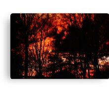 Fiery world turned upside-down  Canvas Print