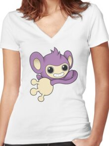 Aipom Women's Fitted V-Neck T-Shirt
