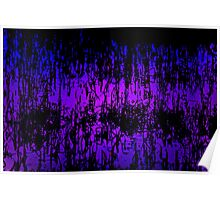 Reeds of abstract lilac Poster