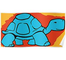Blue Turtle Poster