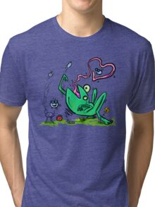 Froggy Banquet Of Love Tri-blend T-Shirt