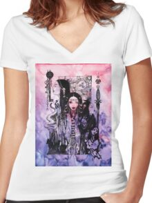 Hecate Queen of the Witches Women's Fitted V-Neck T-Shirt
