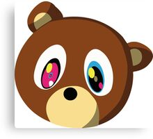 KANYE BEAR HEAD MASCOT Canvas Print