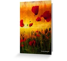 Poppy Sunset Greeting Card