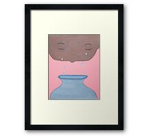 Catching of Tears Framed Print