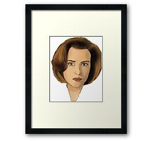 Agent Scully Framed Print