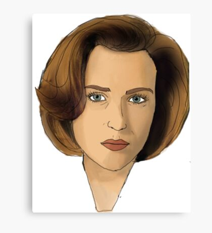 Agent Scully Canvas Print