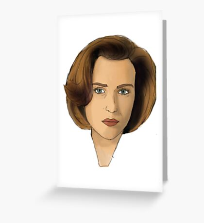 Agent Scully Greeting Card