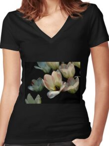Sunlit Women's Fitted V-Neck T-Shirt