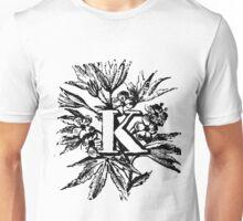 Plant Alphabet Letter K Unisex T-Shirt