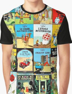 Tintin Book Covers Graphic T-Shirt
