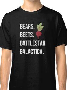 Bears Beets Battlestar Galactica - The Office Classic T-Shirt