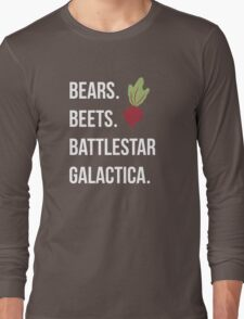 Bears Beets Battlestar Galactica - The Office Long Sleeve T-Shirt
