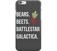 Bears Beets Battlestar Galactica - The Office iPhone Case/Skin