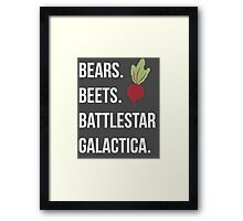 Bears Beets Battlestar Galactica - The Office Framed Print