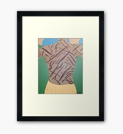 By His Stripes Framed Print
