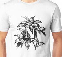 Plant Alphabet Letter N Unisex T-Shirt