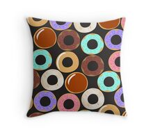 Donut Overload Throw Pillow