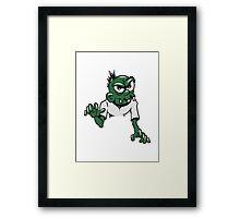 Zombie cool gruselig witzig punk  Framed Print