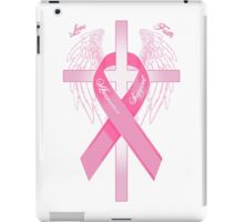 Pink Awareness Ribbon on the Cross iPad Case/Skin