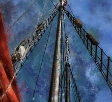 Aboard a tall ship by Celeste Mookherjee