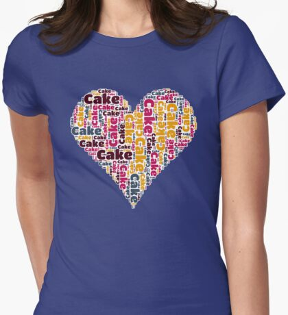 Love Cake Womens Fitted T-Shirt