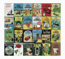 Tintin Book Covers Kids Tee