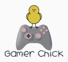 Gamer Chick With Hearts With Black Text (Clothing & Sticker ) by PopCultFanatics
