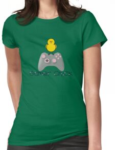 Gamer Chick With Hearts With Black Text (Clothing & Sticker ) Womens Fitted T-Shirt