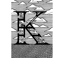 Letter K Architecture Section Alphabet Photographic Print