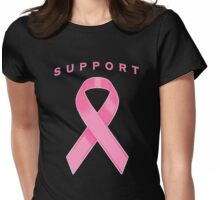 Pink Awareness Ribbon of Support Womens Fitted T-Shirt