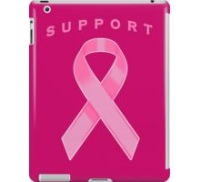 Pink Awareness Ribbon of Support iPad Case/Skin