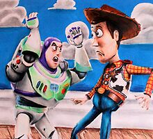 Woody and Buzz by weronikart