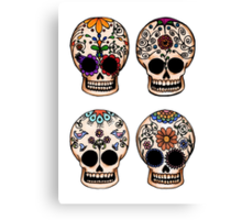 Sugar Skull Set Canvas Print
