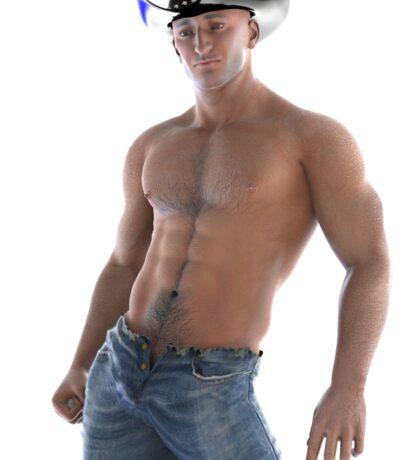 Sexy Cowboy in a pose Sticker