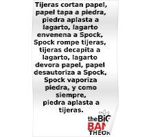 Sheldon Cooper (Spanish) Poster