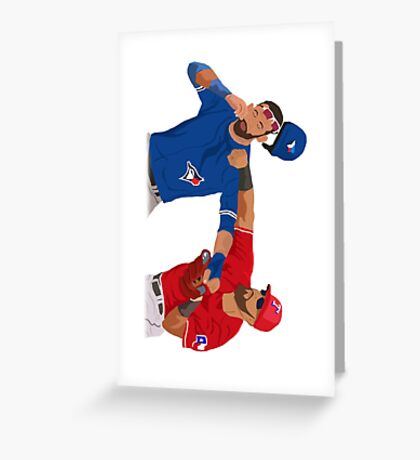 Rougned Odor vs Jose Bautista Fight Greeting Card