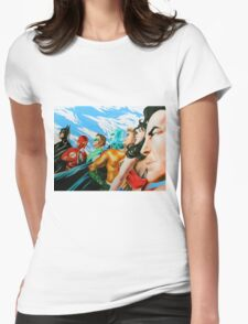 Alex Ross Inspired Justice League Womens Fitted T-Shirt