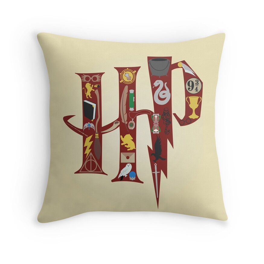 Harry Potter Collage | Throw Pillow