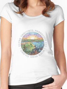 Ultra draconis, paradisus est - Hood Head Island, Washington (LIGHT) Women's Fitted Scoop T-Shirt