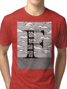 Letter F Architecture Section Alphabet Tri-blend T-Shirt