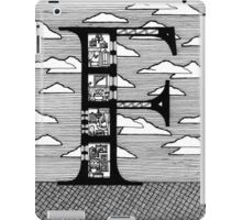 Letter F Architecture Section Alphabet iPad Case/Skin