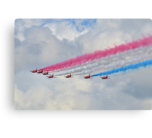 God Save Our Queen-   Red Arrows. Canvas Print