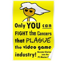 The Gaming Industry Needs Our Help - Gamer Master Funny Geek Meme Poster