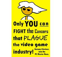 The Gaming Industry Needs Our Help - Gamer Master Funny Geek Meme Photographic Print