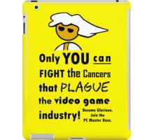 The Gaming Industry Needs Our Help - Gamer Master Funny Geek Meme iPad Case/Skin