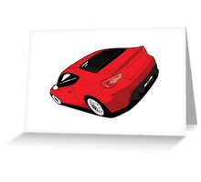 Scion FRS Subaru BRZ - Red Greeting Card