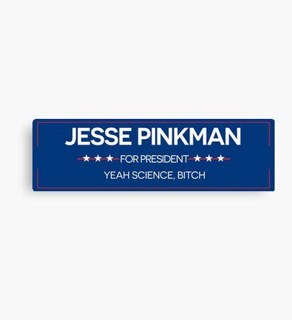 JESSE PINKMAN FOR PRESIDENT Canvas Print