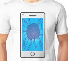Fingerprint identification on Mobile Smart Phone Unisex T-Shirt